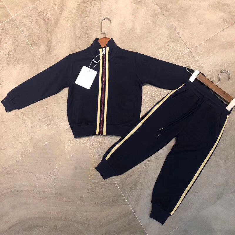 Kid Clothes Sets Boys Girls Tracksuits Kids Sport Suits Zipper Jacket +pants 2pcs for children in stock baby clothes sets children boys girls tracksuits kids spring autumn sport suits zipper jacket pants in end of september