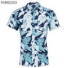 23a0ec3d Beach Hawaiian Men Slim Fit Shirt Brand Casual Button Down Dress Shirts Men  Summer Vacation Party Aloha Shirt Camisa Masculina