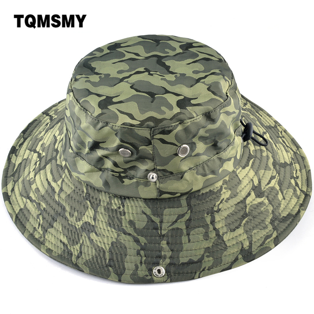0db69913a2a TQMSMY Tactical Airsoft Sniper Camouflage Boonie Hats Nepalese Cap  Militares Army Mens Bucket Hat Hiking Sun