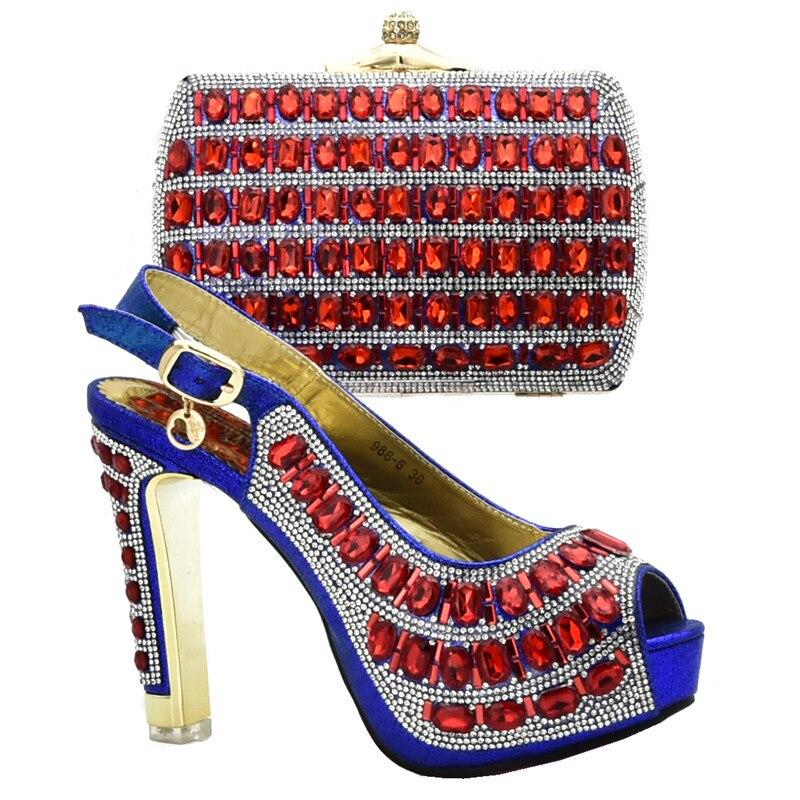 Fiesta La Diamantes Llegada azul De Mujeres Y Tacones Cielo Bolsa naranja Azul Para Nueva En verde Las Juego oro Imitación Zapatos Con Mujer Boda Hebilla FfOqnWvw