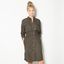 2016 New Spring Fashion/Casual Single-breasted Women's Trench Coat Long Outerwear Slim Clothes for Lady Good Quality Army Green