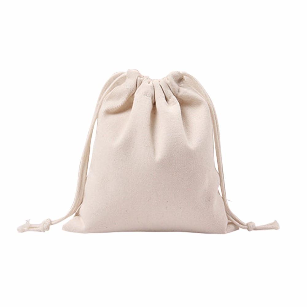 Women Drawstring Bag White Solid Beam Port Shopping Bag Cute Travel Bag Gift Bag Mochilas #7110