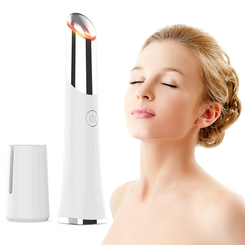 Schönheit Elektrisch Beheizt Sonic Auge Massager Gerät Stift Gesicht Massager Roller Gesichtsbehandlungen Vibration Dünne Gesicht Magie Stick Auge Pflege Werkzeug