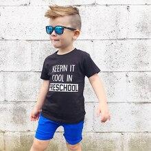 Keepin' It Cool In Дошкольная футболка для детей, рубашка для школы Летняя мода, короткий рукав, Забавные Рубашки для малышей, графическая футболка