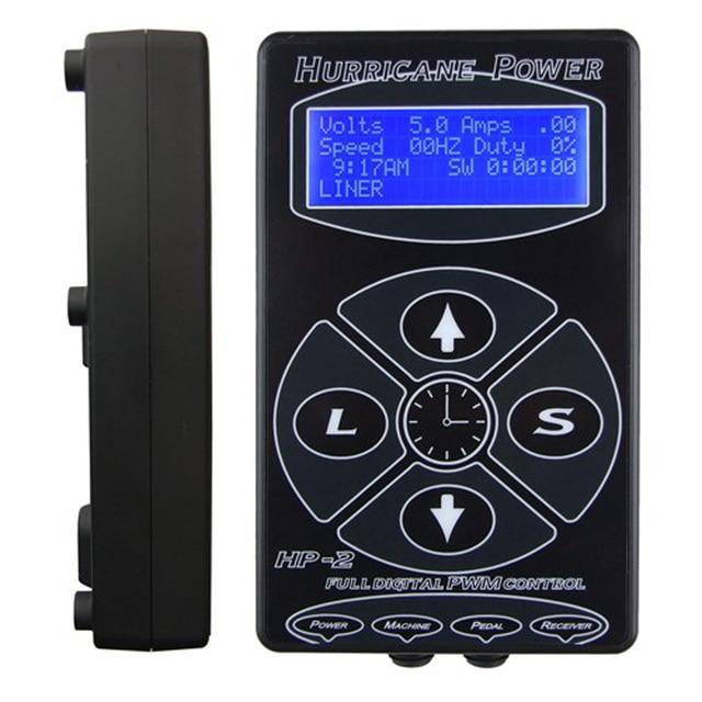 2017 Hot Selling Black HP2 Hurricane Tattoo Power Digital Dual LCD Display Tattoo Power Supply  Free Shipping