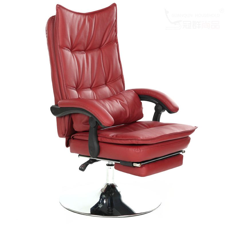 Comfortable Reclining Chair Barbershop Hair Salon Beauty Salon Office Lying Swivel Lifting Footrest Tickened Cushion cadeira
