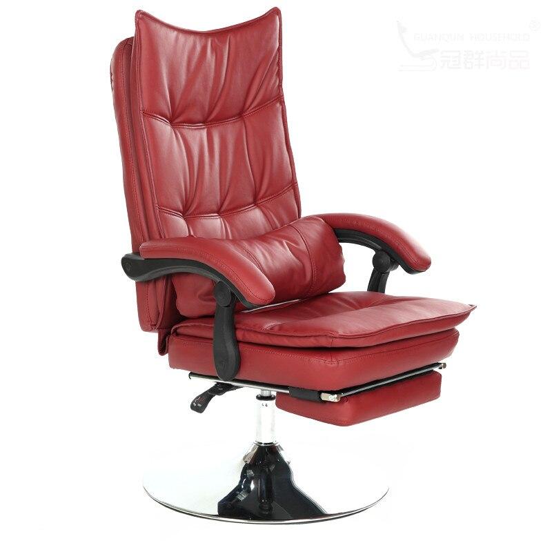 Fauteuil inclinable confortable Salon de coiffure Salon de beauté bureau allongé pivotant repose-pieds de levage coussin cadeira