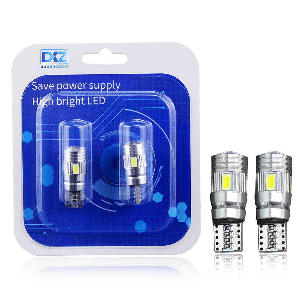 2x T10 W5W Car LED Turn Signal Bulb Canbus Auto Interior Dome Reading Light Wedge Side Parking Reverse Brake Lamp 5W5 5630 6smd