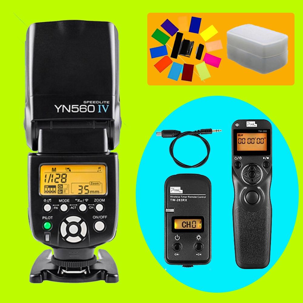 YONGNUO YN560 IV YN-560 IV Flash Speedlite & Pixel TW-283 S2 Shutter Release For Sony A58 A6000 A7 A7r A3000 RX100II pixel tw 282 shutter release wireless timer remote control for canon 700d 1200d 7d nikon d3300 d3200 d5100 sony pentax olympus