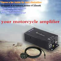 MOTOQUEEN 12V Ad Alta Potenza Per Auto Altoparlanti Audio Amplificatore Lettore MP3 Bluetooth Per Il Motociclo ATV Radio FM USB di Musica del Suono sistema di