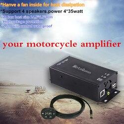 MOTOQUEEN 12V High Power Auto Lautsprecher Audio Verstärker MP3 Player Bluetooth Für Motorrad ATV FM Radio USB Musik Sound system