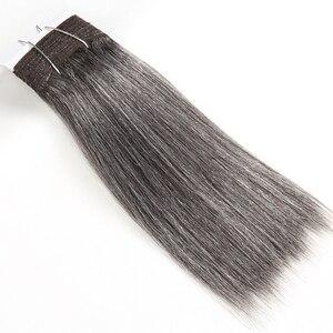 Image 5 - מלוטש צבעוני שיער ברזילאי שיער Weave חבילות ישר שיער חבילות #44 #34 #280 51 # פסנתר אפור רמי שיער טבעי הרחבות