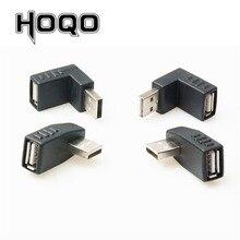 左/右/上/ダウン角度 90 度 USB 2.0 男性 90 アングル Usb メス男性アダプタケーブル
