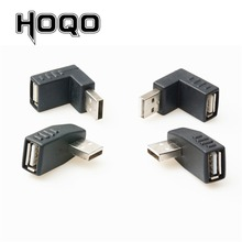 Left/Right/UP/Down Angle 90 Degree USB 2.0 Male 90 Angled USB Female to Male Adapter Cable