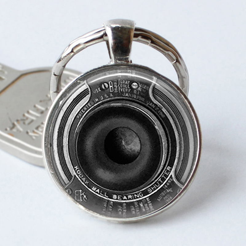 Camera Jewelry Steampunk  Keyrings Camera Lens Glass Pendant  Key Chains Christmas Gift For Women For Men
