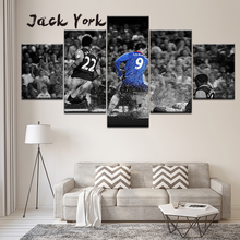 Canvas Painting Fernando Torres Chelsea BW Football 5 Pieces Wall Art Modular Wallpapers Poster Print Home Decor
