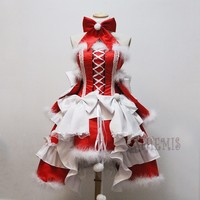 Athemis lovely Christmas dress cinderella Cosplay Costume custom made outfit High Quality