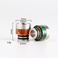 2pcs electronic cigarette accessory drip tip 510 Resin with stainless steel drip tip cap vapour cigarette rta atomizer dripka