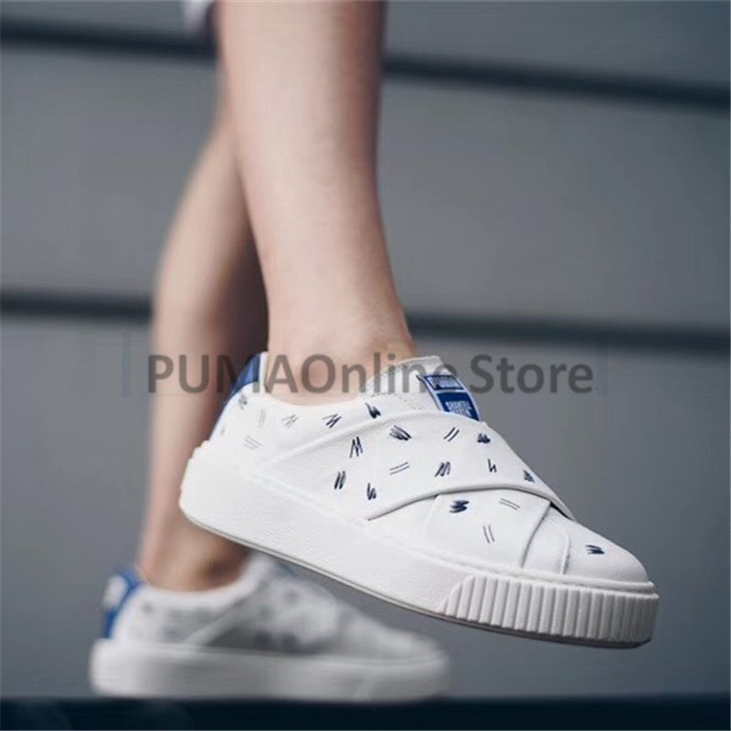 7fed594af63 2018 Original PUMA x Shantell Martin Slip on Women s Trace Leather Sneakers  Size EUR35.5 39-in Badminton Shoes from Sports   Entertainment on  Aliexpress.com ...