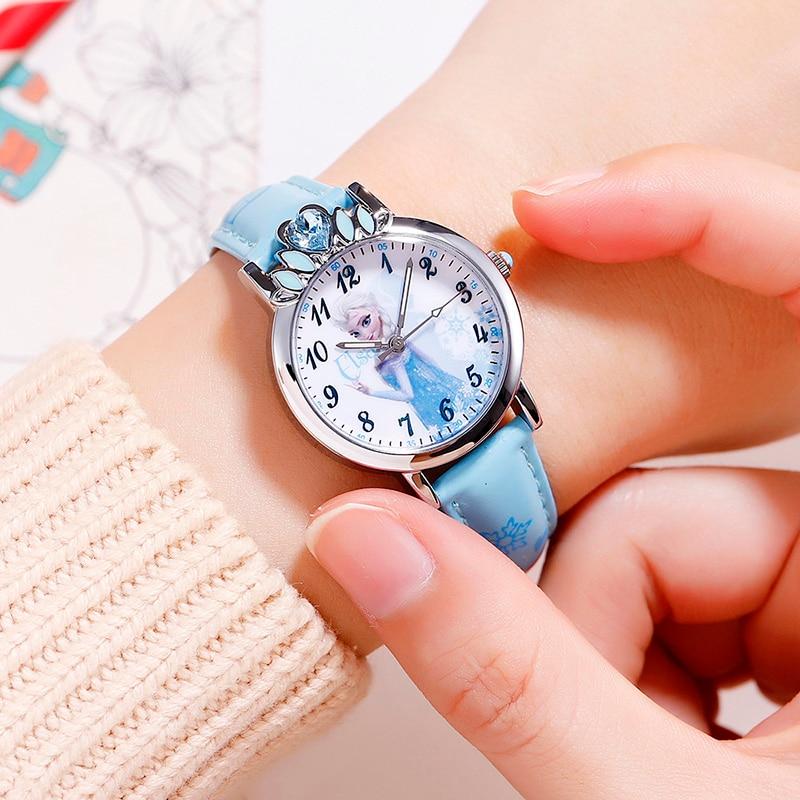 Children's Watches Disney Fashion Kids Watches For Girls Frozen Princess Luxury Quartz Wristwatches Sophia Princess Girl Child Casual Watches