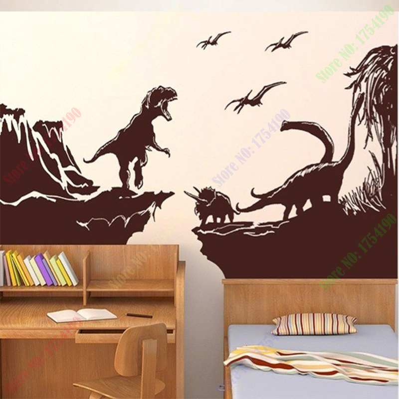 Free Shipping Extra large wall decal stickers Dinosaur World G Foster