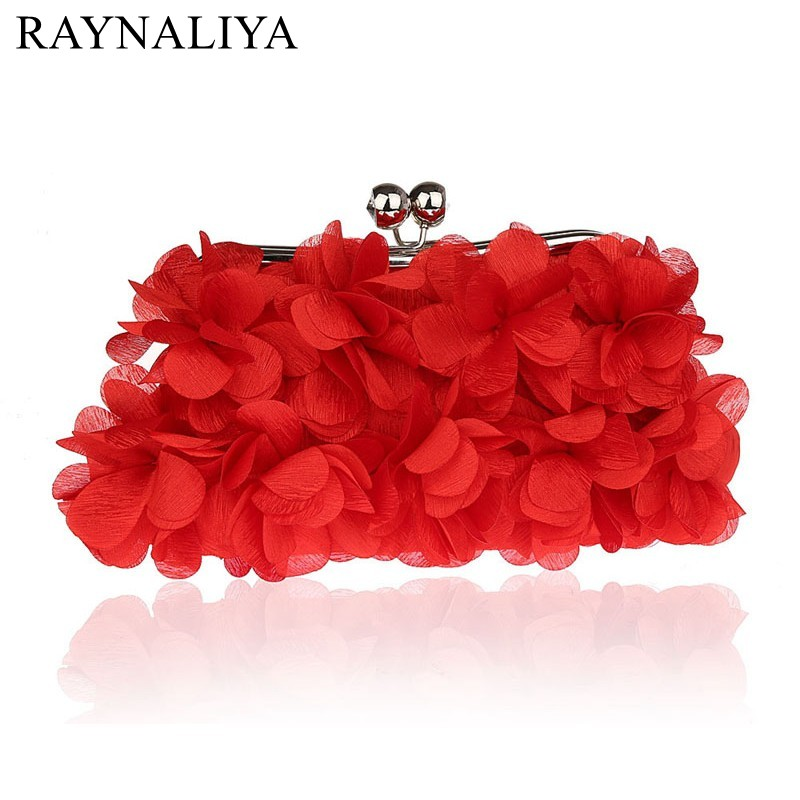 Flowers Frame Handbag Rose Bridal Bags Luxury Evening Bag Clutch Upscale Styling Day Clutches Lady Wedding Purse Smysfx-e0113