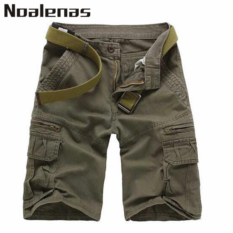 New Summer Fashion Men Military Cargo Cotton Shorts Short Masculino Baggy Plus Size 29-38 Knee Length