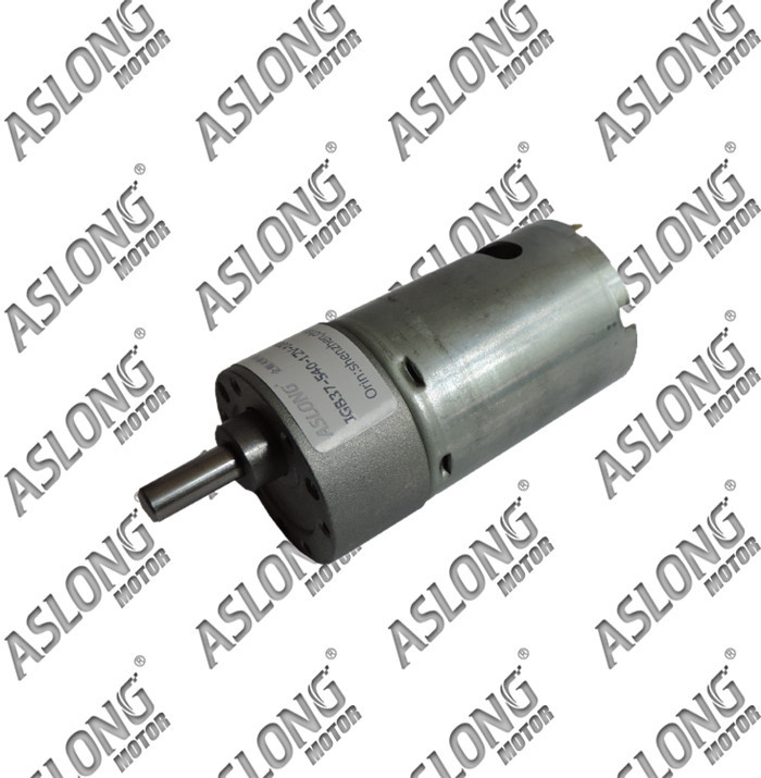 2pcs/lot ASLONG 12v 12-1600rpm high torque JGB37-540 DC gear motor/electric motor with reduction gear