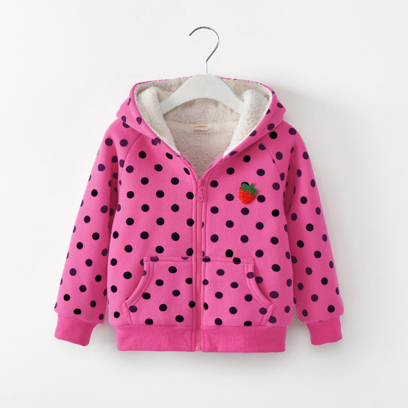 BibiCola 2018 New Newborn Autumn Winter Children's Padded Coat Baby Jacket Polka Dot Girls Thicken Baby's Cotton Overcoat