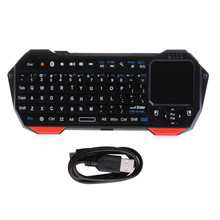 Mini Wireless Bluetooth V3.0 Keyboard Built-in Fly Air Mouse Touchpad For ipad Tablet PC Windows Android ios Smart Tv