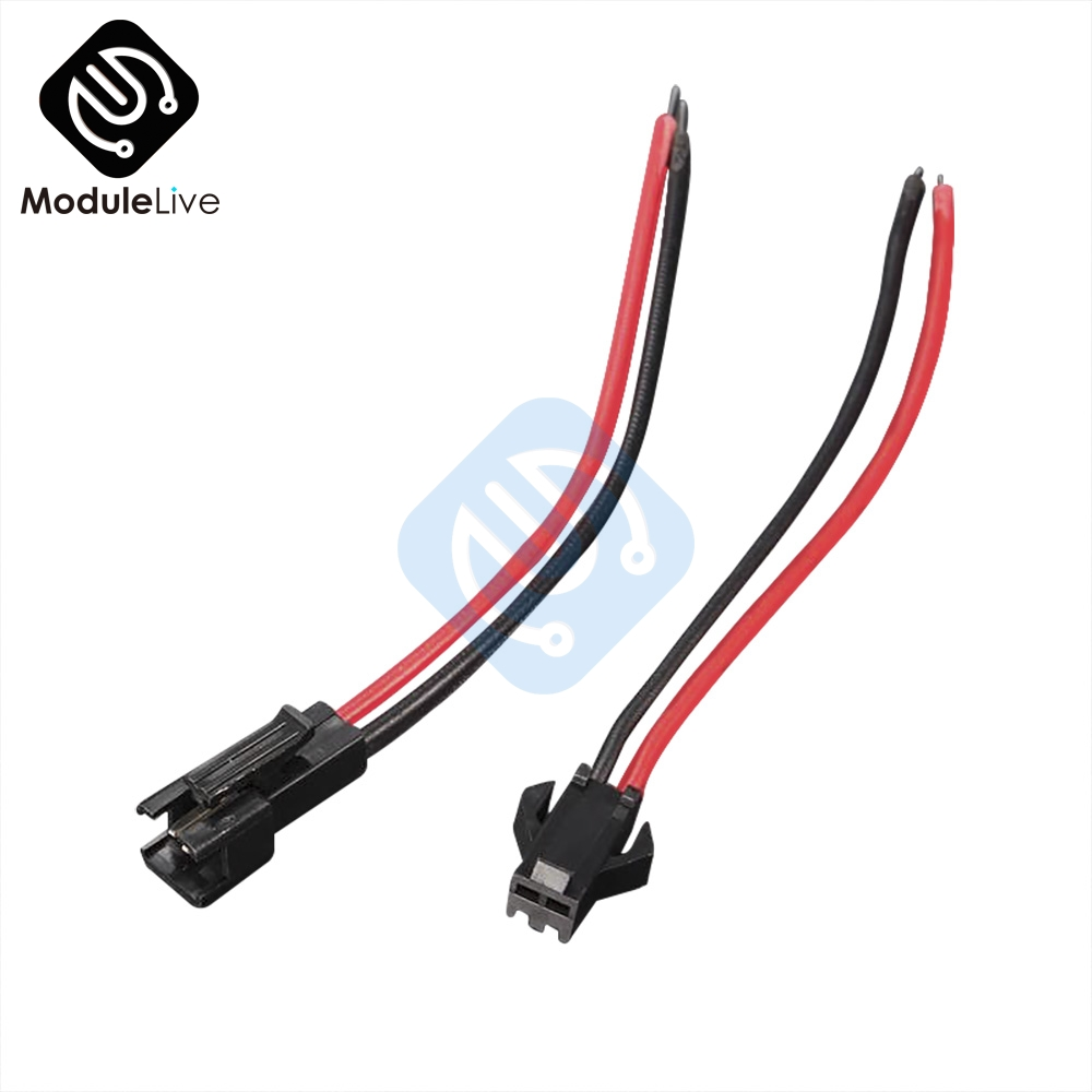10Pairs 15cm Long JST SM 2Pins 2P Plug Male To Female Wire Cable Connector Adapter For 3528 5050 LED Light Strip Tape Driver