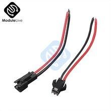 Adaptateur de connecteur de câble mâle à femelle JST SM 2 broches de 15cm de Long, 10 paires, pour conducteur de bande 3528 5050