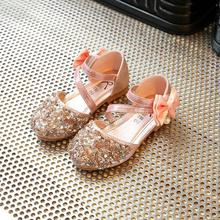 Girls Sandals New Summer 2017 Han Edition Fashion Diamond Princess Children's Princess Shoes Students With Flat Sandals 028