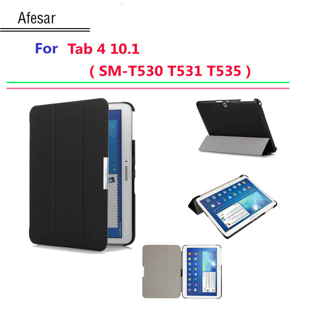 new concept c0f35 90a92 US $9.8 51% OFF|Hot Ultra Slim cover for Samsung Galaxy tab 4 10.1 smart  cover case Auto Sleep sm T530 T531 T535 tablet Flip Case with stand-in ...