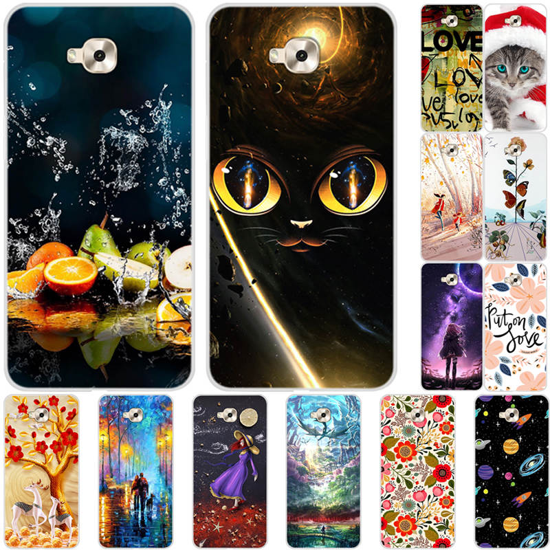 <font><b>Case</b></font> For <font><b>Asus</b></font> <font><b>Zenfone</b></font> <font><b>4</b></font> <font><b>Selfie</b></font> Zd553Kl Cover Soft Silicon Clear TPU Patterned <font><b>Phone</b></font> Back Cover for <font><b>ASUS</b></font> Zd553Kl X00LD <font><b>Case</b></font> Funda image