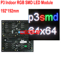 P3 Interior RGB SMD CONDUZIU o Módulo 192*192mm 64*64 pixels para full color display LED mensagem de Rolagem LEVOU sinal P3 RGB LED SMD de exibição