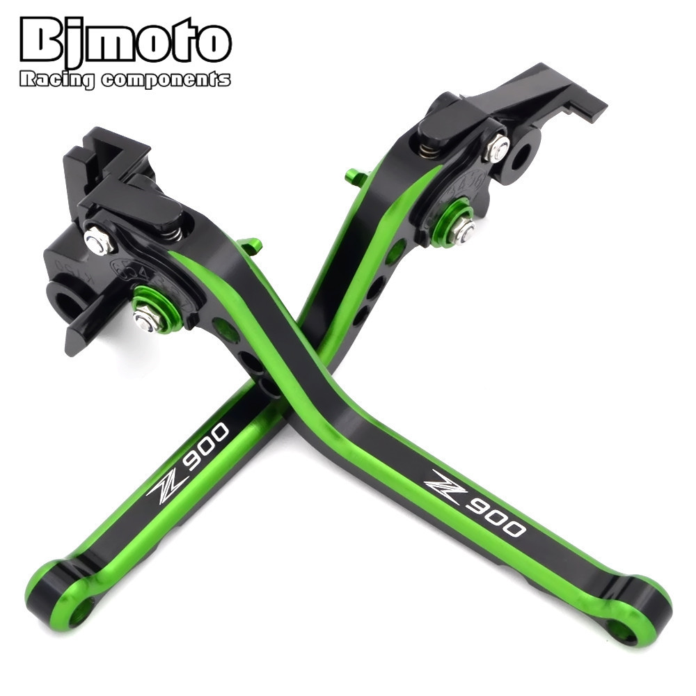 Bjmoto motorcycle Dual Color Adjustable Long lever Motorcycle Brakes Clutch CNC Levers For Kawasaki Z900 2017 2016 motorcycle mixed colors adjustable lever regular cnc dual color brake clutch levers for kawasaki z1000 z750r 2011 2012
