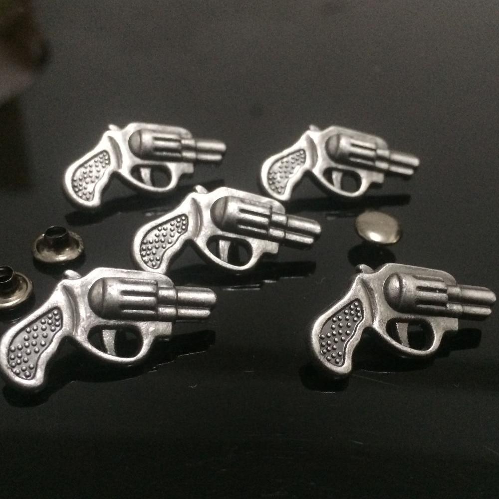 50PCS 13x26MM Antik Gümüş Silah Studs Perçinli Punk Silah - İncəsənət, sənətkarlıq və tikiş - Fotoqrafiya 3