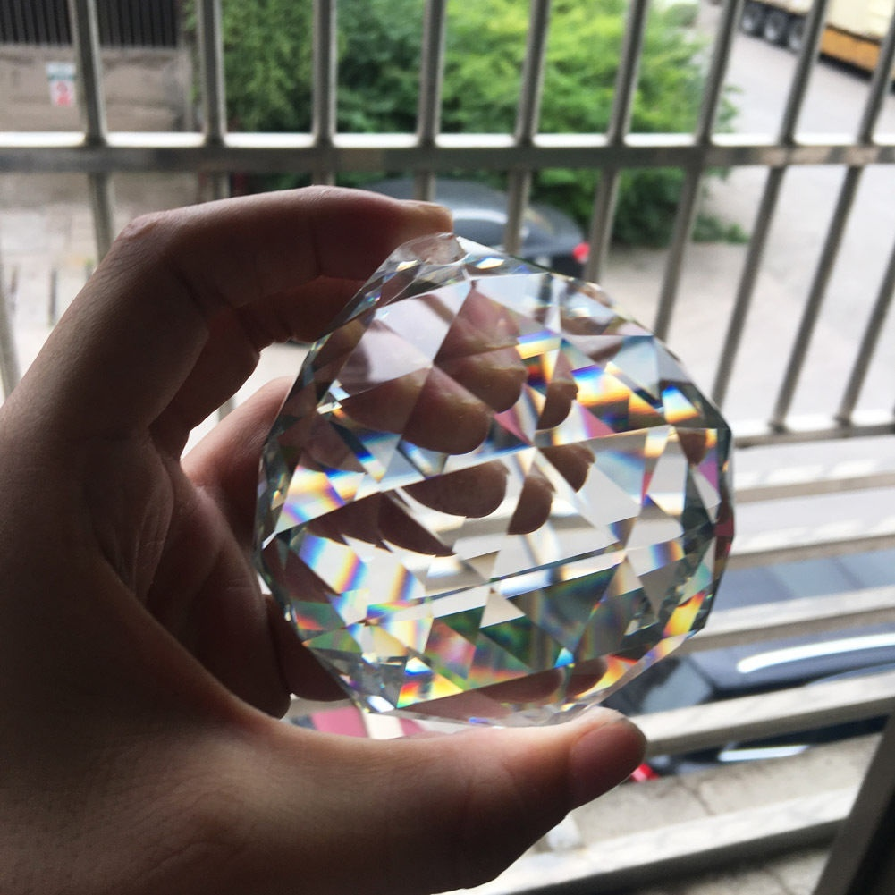 50MM Feng Shui Hanging Crystal Ball Sphere Prism Rainbow Suncatcher Pendant DIY
