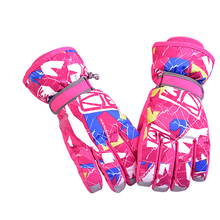 Boys Girls Waterproof Thermal Winter Ski Gloves Snowboard Snowmobile Motorcycle Cycling Outdoor Sports Gloves