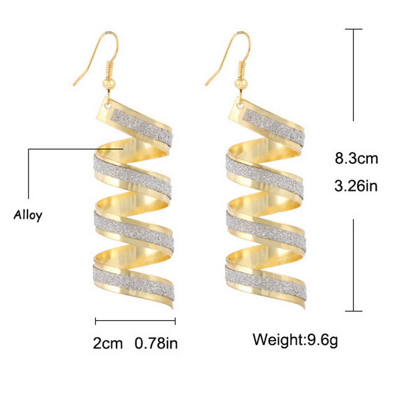 2017 HOT Fashion Punk Women Twisted Spiral Earrings Women Frosted Circle Earrings Charm Jewelry Valentine s Day gift