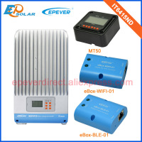 IT6415ND+wifi and bluetooth function solar power battery charger controller with MT50 remote meter 60A 60amp 48v