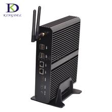 Крошечные ПК core i7 5550U 5th Gen бродуэлл Mini PC Windows 10 Безвентиляторный Компьютер TV BOX Dual LAN HD Дисплей HTPC 300 м WIFI HDMI VGA
