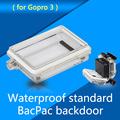 Professional Gopro Housing Backdoor Case Protective Shell Waterproof Shell Thickening LCD Backdoor Cover For GoPro Hero 3