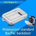 Profissional gopro backdoor habitação case de proteção shell shell à prova d' água espessamento lcd backdoor capa para gopro hero 3