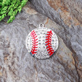 New arrive 45mm 10pcs/lot Silver Silver heart Football Rhinestone Pendant For chunky kid's Necklace Making