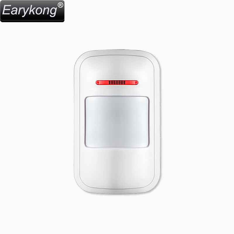 433MHz Wireless Passive Infrared Detector PIR Motion Sensor, For Alarm Systems Security Home Burglar, Free Shipping, Earykong . недорого