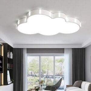 Image 4 - クラウド現代シャンデリア子供のための子供の部屋の寝室の plafon 110 V 220 V ホット天井 led シャンデリア lampadario led 器具