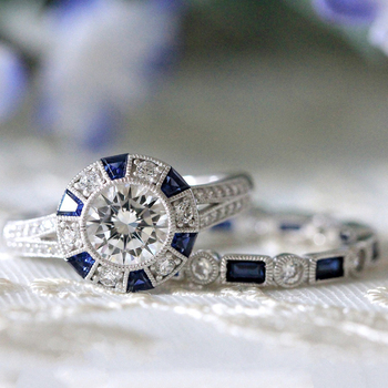 Vintage 2pcs/Set Wedding Ring 6