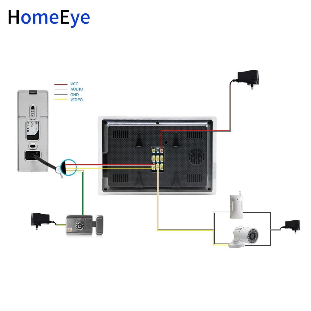Купить с кэшбэком HomeEye 720P 7inch HD Video Door Phone Video Intercom House Door Control Speaker System Motion Detection Door Bell Movie Player